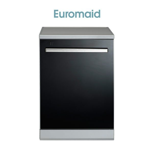 Euromaid BG14BM 60cm Black Glass Dishwasher