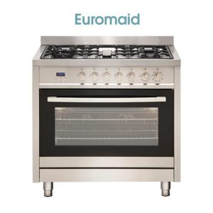 Euromaid GE9SS 90cm Electric Oven, Gas Hob, Derni Exclusive