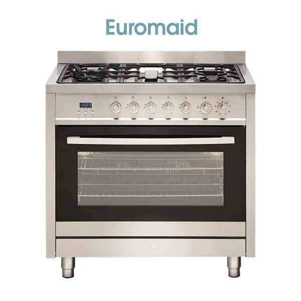 Euromaid GE9SS, 90cm Stove Cooker – Electric Oven Gas Cooktop