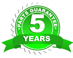 5 year parts guarantee