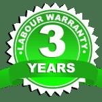 3 year labour warranty