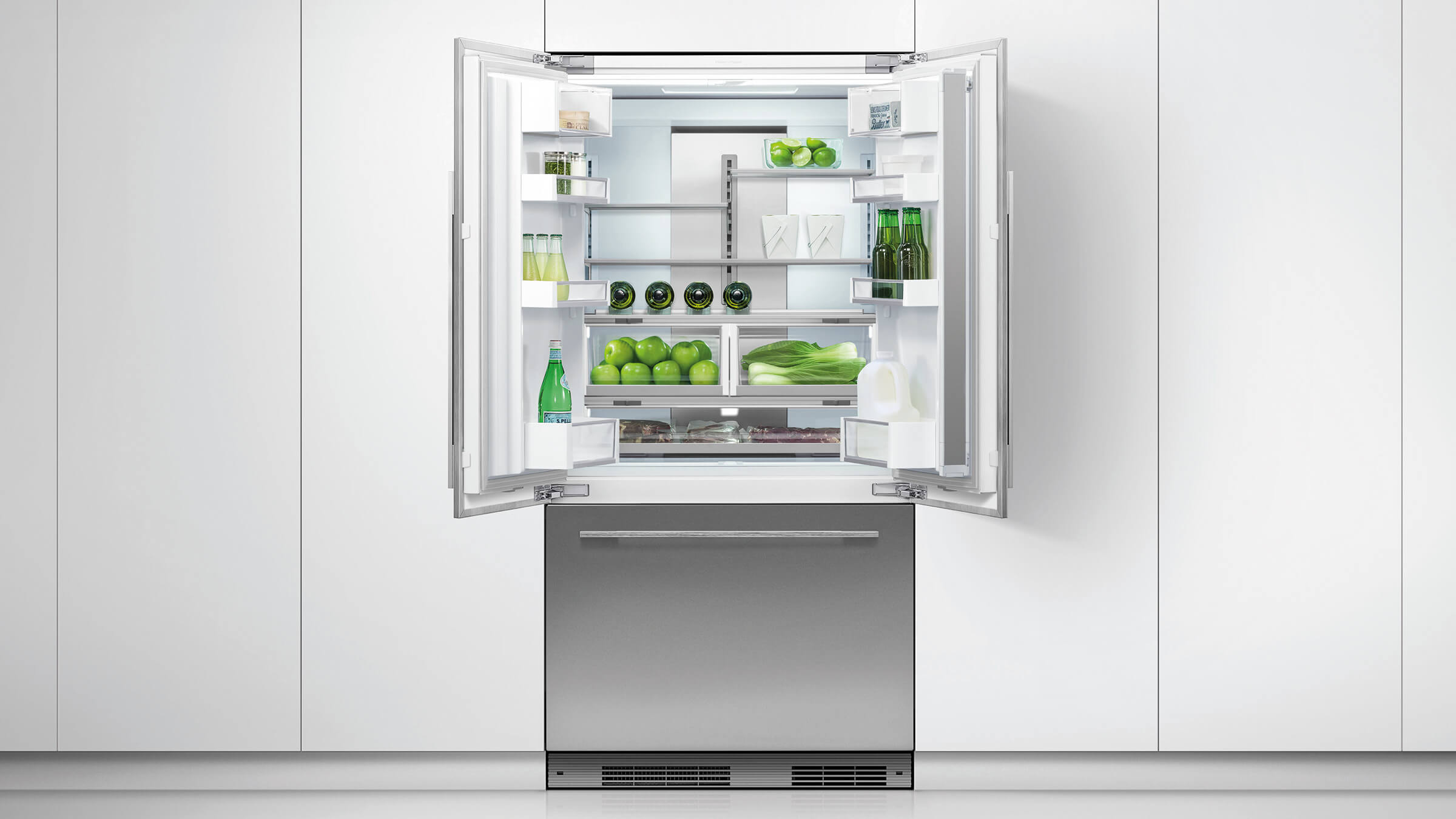 Fisher Amp Paykel Rs90a1 525l Activesmart Integrated French