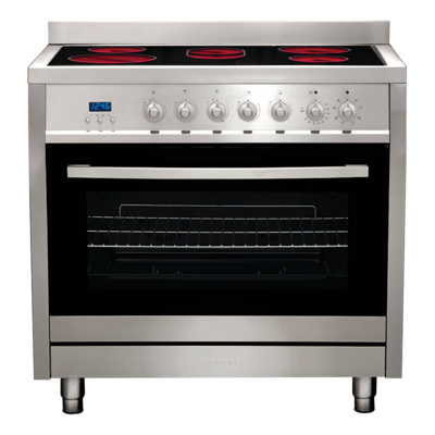 Euromaid-CS9TS-90cm-StoveCooker-Electric-Oven-Ceramic-Cooktop