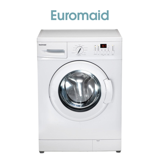 Euromaid WM8 60cm Front Load 8kg Washing Machine-web ready
