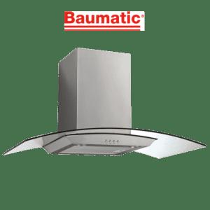 Baumatic GEH9026G 90cm Curved Glass Canopy Rangehood-web ready