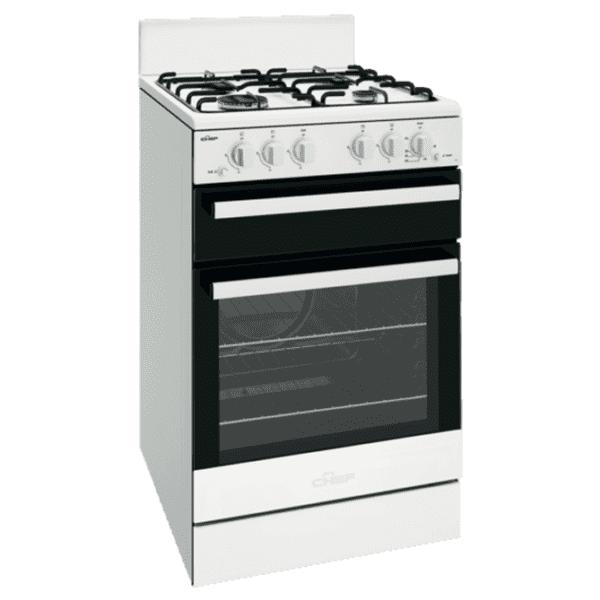 Chef CFG503WBLP 54cm LPG Gas Upright Cooker