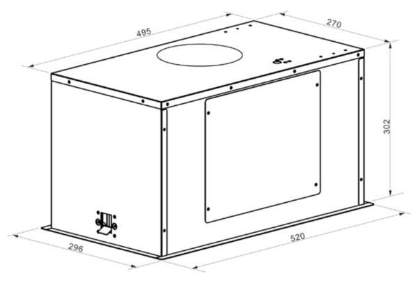 Baumatic UC52 52cm Integrated Rangehood-schematic
