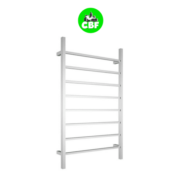 CBFTL1174S Square 8 Rung Bathroom Non Heated Towel Ladder 1150mm x 700mm-store
