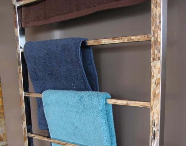 CBFTL94S Square 6 Rung Bathroom Non Heated Towel Ladder 920mm x 460mm