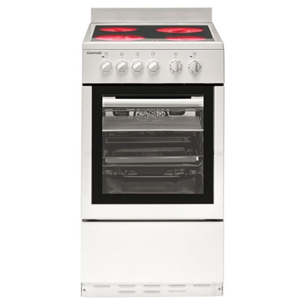 Euromaid CW50 50cm Upright Cooker – Electric Oven & Ceramic Cooktop