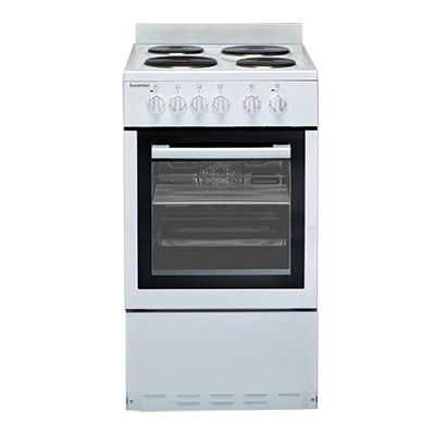 Euromaid EW50 50cm Upright Cooker – Electric Oven & Solid Cooktop