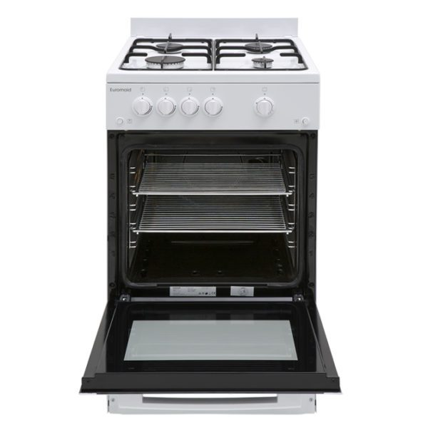 Euromaid GGFW50 50cm Freestanding CookerStove – LPG Oven, Grill & Cooktop-full view