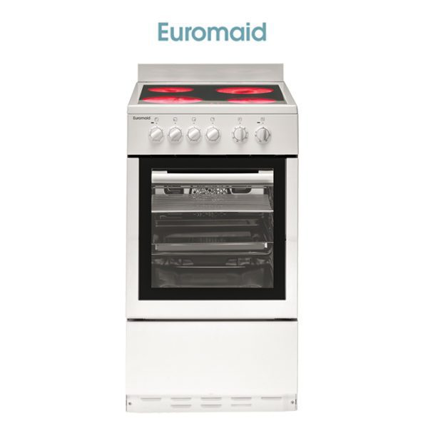 Euromaid CW50 – 50cm Upright Cooker – Electric Oven – Ceramic Cooktop