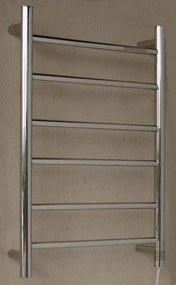 HTR-R4 Heated Round 6 Rung Bathroom Towel Ladder 700mm x 400mm