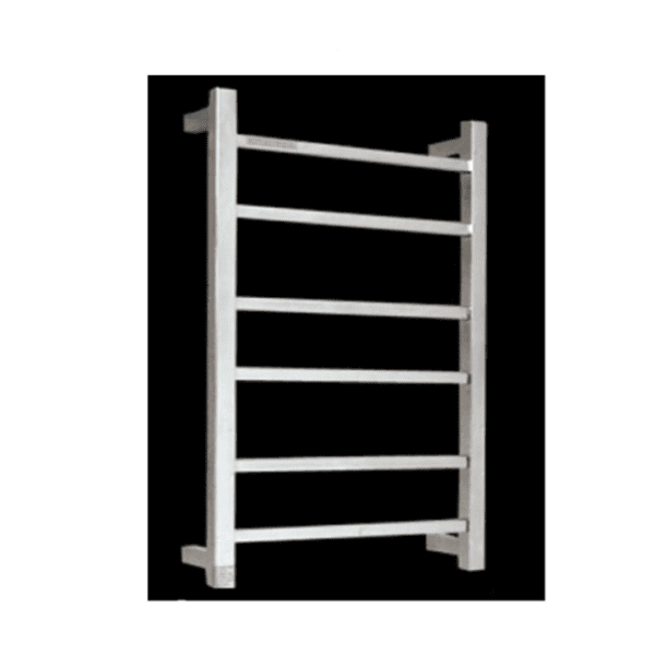HTR-S4 Heated Square 6 Rung Bathroom Towel Ladder 700mm x 450mm