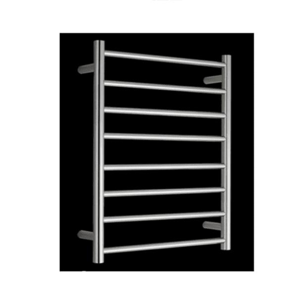 HTR-R6A Heated Round 8 Rung Bathroom Towel Ladder 800mm x 600mm