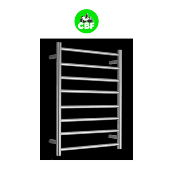 HTR-R6A Heated Round 8 Rung Bathroom Towel Ladder 800mm x 600mm-store