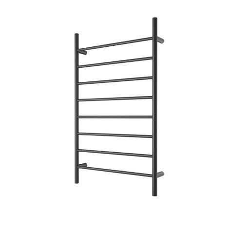 CBFTL1174RBLK Round 8 Rung Bathroom Non Heated Towel Ladder 1150mm x 700mm Matte Black
