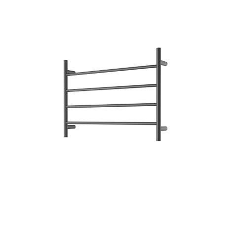 CBFTL75RBLK Round 4 Rung Bathroom Non Heated Towel Ladder 500mm x 700mm Matte Black