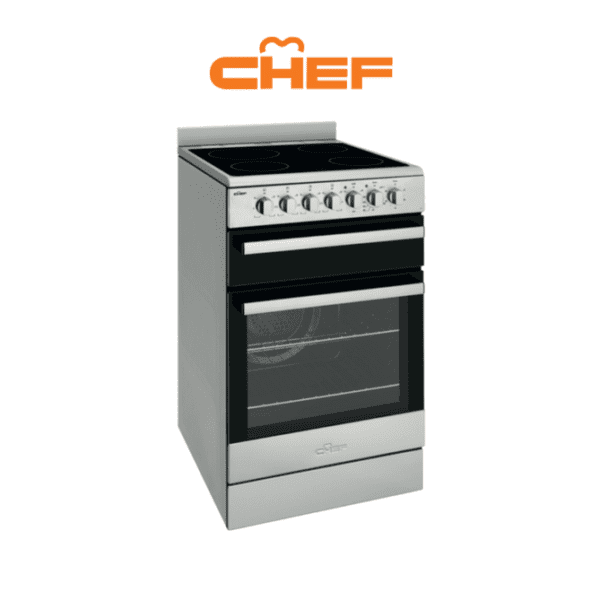 Chef CFE547SB – 54cm Electric Upright Cooker