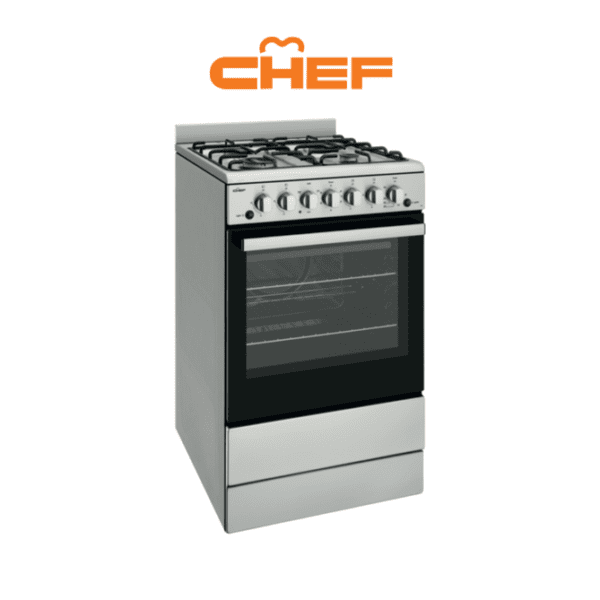 Chef CFG504SBLP 54cm LPG Gas Upright Cooker