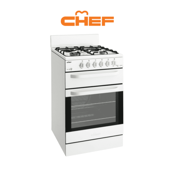 Chef CFG515WALP 54cm LPG Gas Upright Cooker-web ready