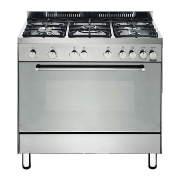 Delonghi DEF905GEG 90cm Freestanding Gas Cooker-Electric Grill-front view