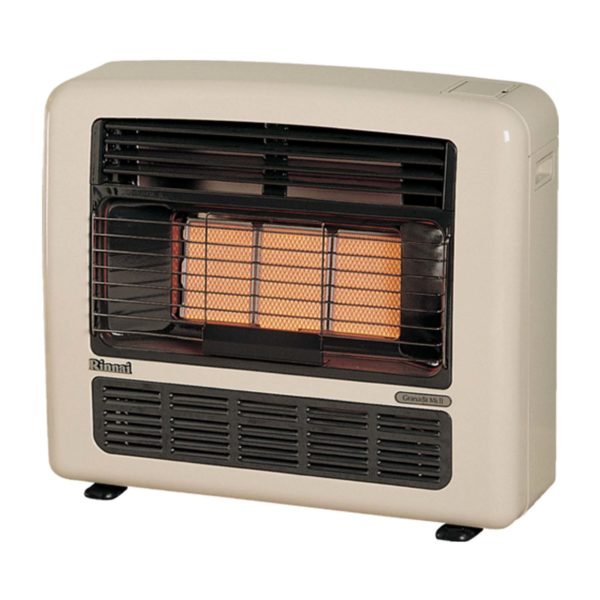 Rinnai 252L Granada 252 Radiant Convector Heater LPG Off White Unflued