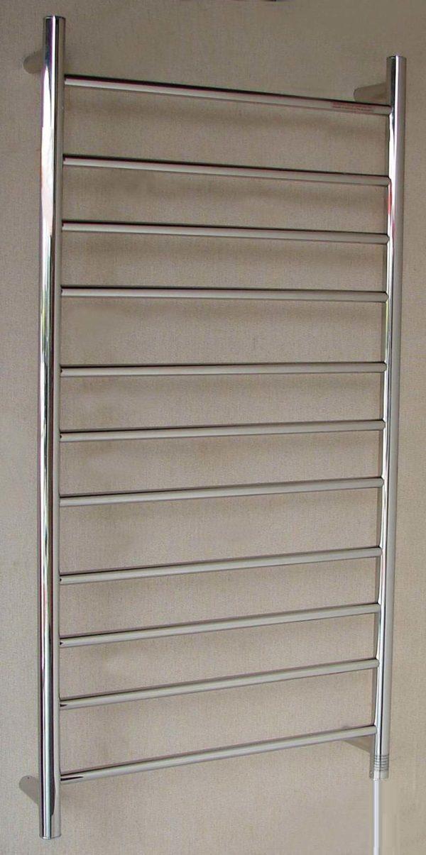 HTR-R6B Heated Round 11 Rung Bathroom Towel Ladder 1150mm x 600mm-1