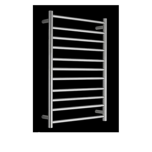 HTR-R6B Heated Round 11 Rung Bathroom Towel Ladder 1150mm x 600mm-2
