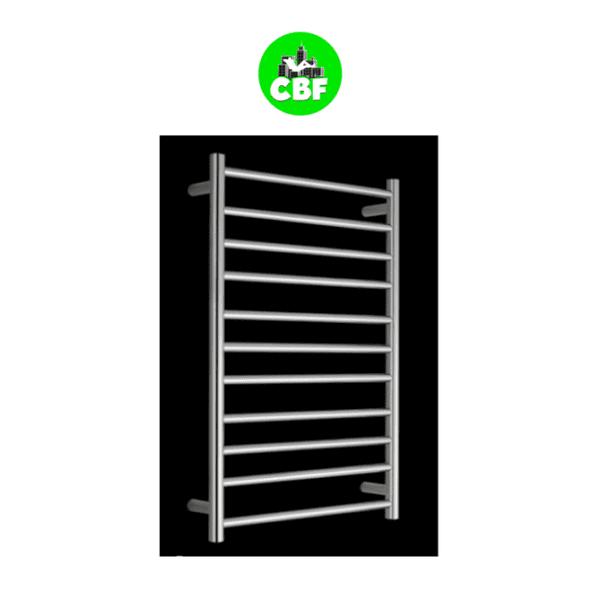 HTR-R6B Heated Round 11 Rung Bathroom Towel Ladder 1150mm x 600mm-web ready