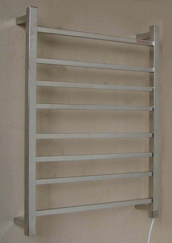 HTR-S6A Heated Square 8 Rung Bathroom Towel Ladder 800mm x 600mm