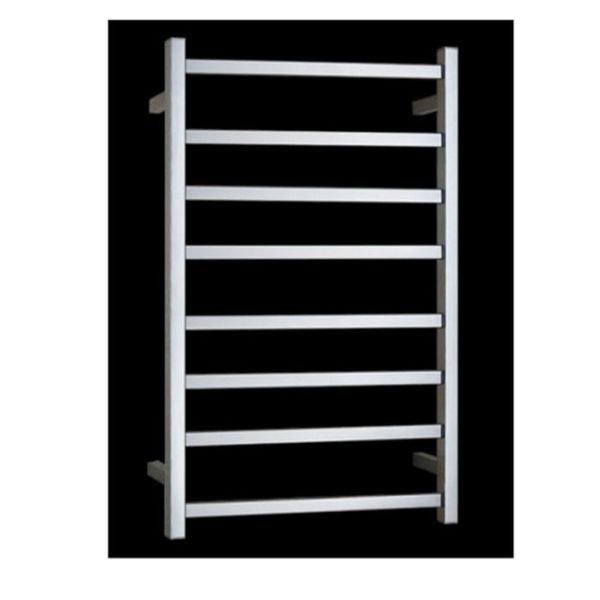 HTR-S6A Heated Square 8 Rung Bathroom Towel Ladder 800mm x 600mm-high