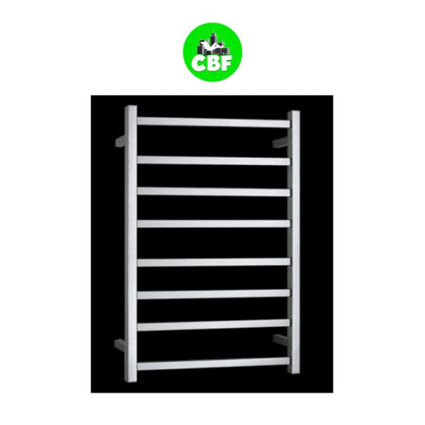 HTR-S6A Heated Square 8 Rung Bathroom Towel Ladder 800mm x 600mm-web ready
