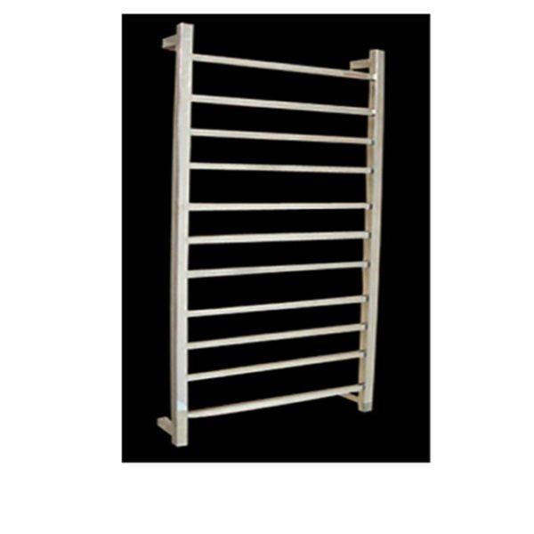 HTR-S6B Heated Square 11 Rung Bathroom Towel Ladder 1150mm x 600mm