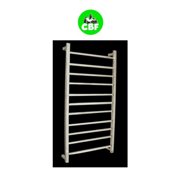 HTR-S6B Heated Square 11 Rung Bathroom Towel Ladder 1150mm x 600mm-web ready