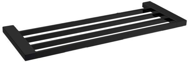 5603-600-B Elegancia Square Bathroom Towel Rack Shelf 600mm Matte Black
