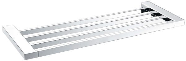 5603-600 Elegancia Square Bathroom Towel Rack Shelf 600mm Chrome