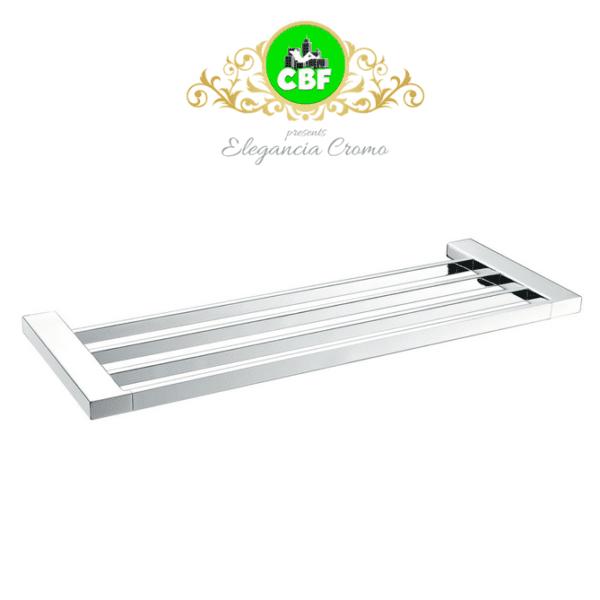 5603-600 Elegancia Square Bathroom Towel Rack Shelf 600mm Chrome-web ready