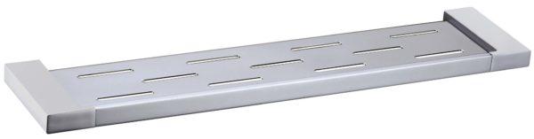 5609-1 Elegancia Square Metal Bathroom Rack Shelf Holder Chrome 550 x 120mm