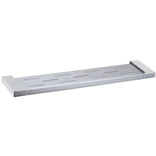 5609-1 Elegancia Square Metal Bathroom Rack Shelf Holder Chrome 550 x 120mm-high