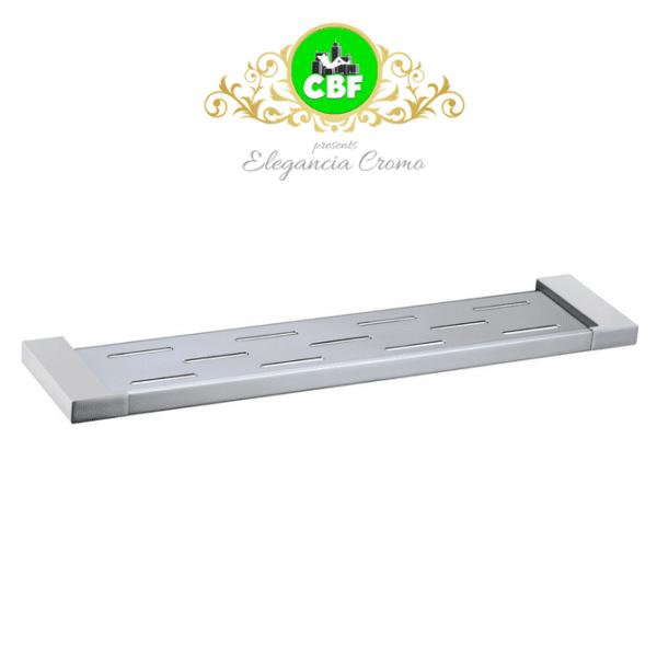 5609-1 Elegancia Square Metal Bathroom Rack Shelf Holder Chrome 550 x 120mm-web ready