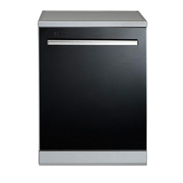 Euromaid EDWB14G 60cm Black Glass Dishwasher-front view