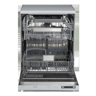 Euromaid EDWB14G 60cm Black Glass Dishwasher-full view