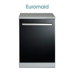 Euromaid EDWB14G 60cm Black Glass Dishwasher-web ready
