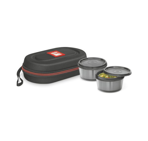 MNL2OR Milton Nutri Lunch 2 Container Lunch Box-black