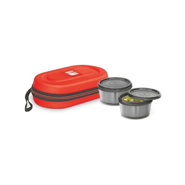 MNL2OR Milton Nutri Lunch 2 Container Lunch Box-red