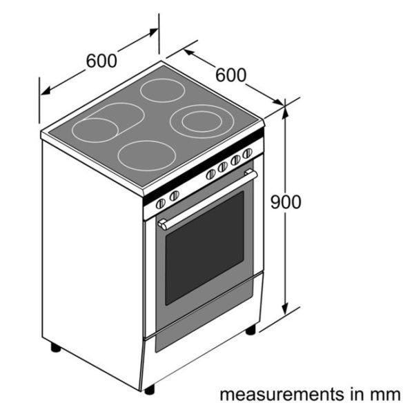 Bosch HCA858450A Serie 6 60cm Electric Freestanding Cooker-schematic