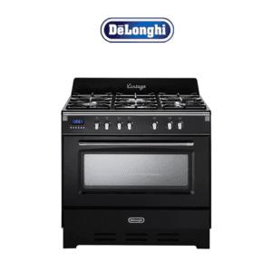DeLonghi DEFV908BK 90cm Dual Fuel Upright Vintage Cooker-Store_Main