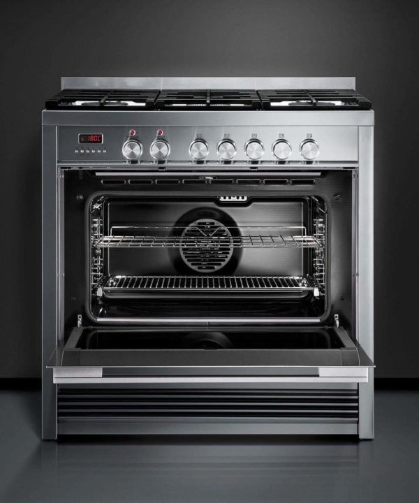 Fisher-Paykel OR90SDBGFPX1 Freestanding Cooker, 90cm, Dual Fuel, Pyrolytic-full view